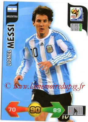 2010 - Panini FIFA World Cup South Africa Adrenalyn XL - N° 015 - Lionel MESSI (Argentine)