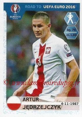 Panini Road to Euro 2016 Stickers - N° 215 - Artur JEDRZEJCZYK (Pologne)