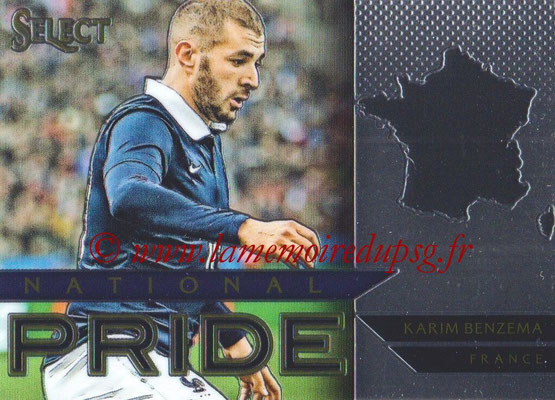 2015 - Panini Select Soccer - N° NP18 - Karim BENZEMA (France) (National Pride)