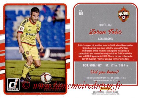 2016 - Panini Donruss Cards - N° 069 - Zoran TOSIC (CSKA Moscou)