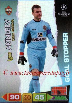 2011-12 - Panini Champions League Cards - N° 283 - Igor AKINFEEV (CSKA Moscou) (Goal Stopper)