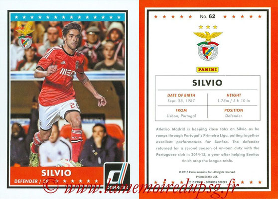 2015 - Panini Donruss Soccer - N° 062 - SILVIO (SL Benfica)