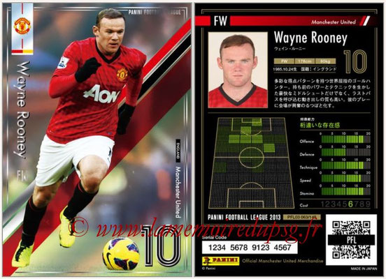 Panini Football League 2013 - PFL03 - N° 063 - Wayne Rooney (Manchester United)