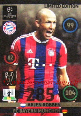 2014-15 - Adrenalyn XL champions League N° LE-AR - Arjen ROBBEN (Baryen Munich) (Limited Edition)