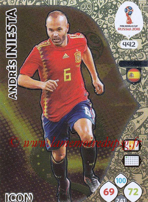 2018 - Panini FIFA World Cup Russia Adrenalyn XL - N° 442 - Andrés INIESTA (Espagne) (Icon)