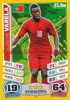 Topps Match Attax England 2014 - N° 195 - Silvestre VARELA (Portugal)