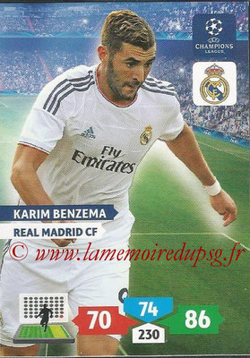 2013-14 - Adrenalyn XL champions League N° 243 - Karim BENZEMA (Real Madrid CF)