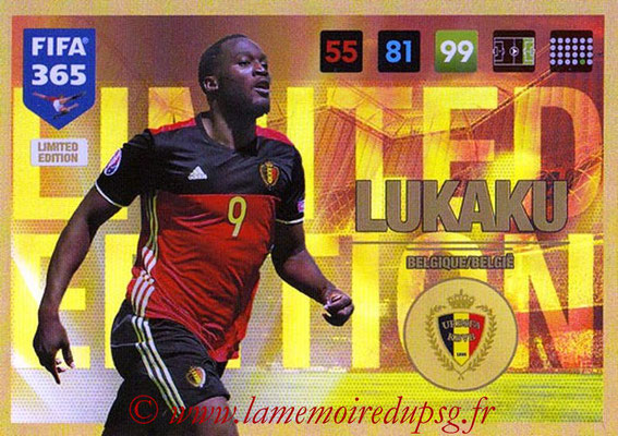 2016-17 - Panini Adrenalyn XL FIFA 365 - N° LE51 - Romelu LUKAKU (Belgique) (Limited Edition)
