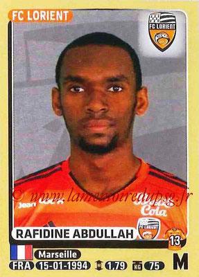 2015-16 - Panini Ligue 1 Stickers - N° 181 - Rafidine ABDULLAH (FC Lorient)