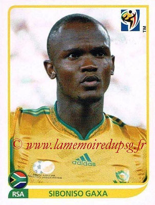 2010 - Panini FIFA World Cup South Africa Stickers - N° 033 - Siboniso GAXA (Afrique du Sud)