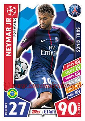 2017-18 - Topps UEFA Champions League Match Attax - N° N10 - NEYMAR Jr (Paris Saint-Germain) (Skill Kings) (Nordic Edition)