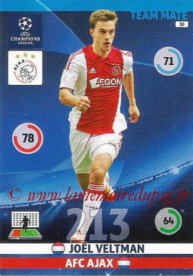 2014-15 - Adrenalyn XL champions League N° 030 - Joël VELTMAN (AFC Ajax)