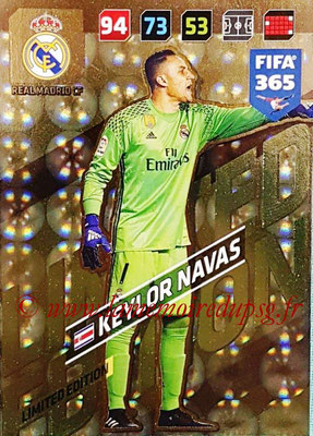 2017-18 - Panini FIFA 365 Cards - N° LE-KN - Keylor NAVAS (Real Madric CF) (Limited Edition)