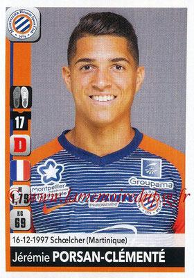 2018-19 - Panini Ligue 1 Stickers - N° 260 - Jérémie PORSAN-CLEMENTE (Montpellier)