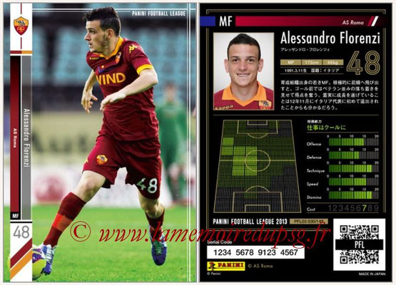 Panini Football League 2013 - PFL03 - N° 030 - Alessandro Florenzi (AS Roma)