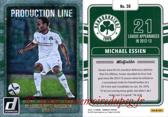 2016 - Panini Donruss Cards - N° PL38 - Michael ESSIEN (Panathinaikos) (Production Line)