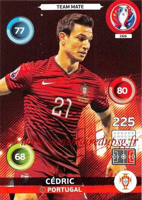 Panini Euro 2016 Cards - N° 266 - CEDRIC (Portugal)