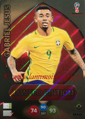 2018 - Panini FIFA World Cup Russia Adrenalyn XL - N° LE-GJ - Gabriel JESUS (Brésil) (Limited Edition)