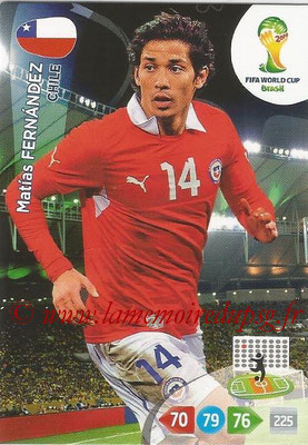 2014 - Panini FIFA World Cup Brazil Adrenalyn XL - N° 073 - Matias FERNANDEZ (Chili)