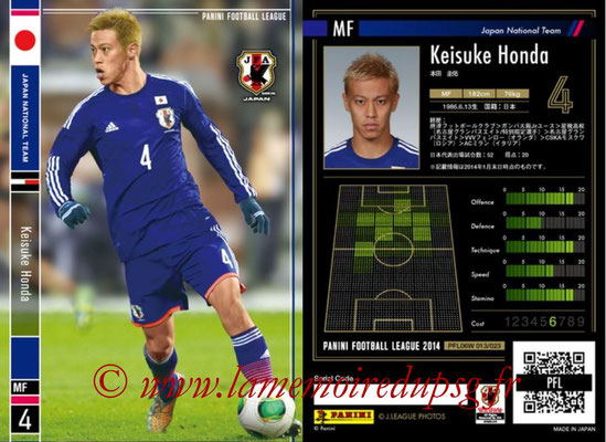 Panini Football League 2014 - PFL06W - N° 013 - Keisuke HONDA (Japon)
