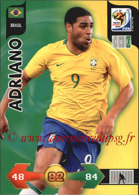 2010 - Panini FIFA World Cup South Africa Adrenalyn XL - N° 045 - ADRIANO (Bresil)