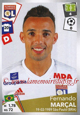 2017-18 - Panini Ligue 1 Stickers - N° 185 - Fernando MARCAL LOPES (Lyon)