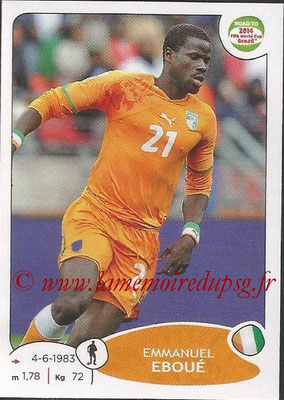 2014 - Panini Road to FIFA World Cup Brazil Stickers - N° 385 - Emmanuel EBOUE (Côte d'Ivoire)