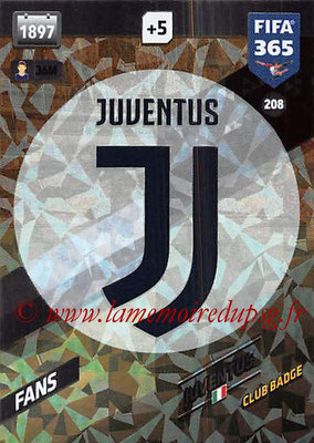 2017-18 - Panini FIFA 365 Cards - N° 208 - Logo Juiventus (Club Badge)