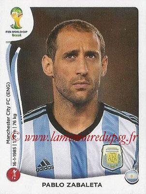2014 - Panini FIFA World Cup Brazil Stickers - N° 415 - Pablo ZABALETA (Argentine)