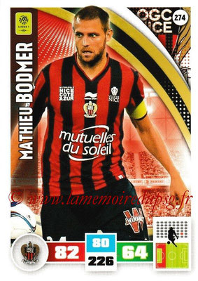 2016-17 - Panini Adrenalyn XL Ligue 1 - N° 274 - Mathieu BODMER (Nice)