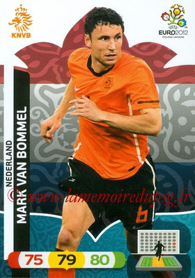 Panini Euro 2012 Cards Adrenalyn XL - N° 145 - Mark VAN BOMMEL (Pays-Bas)