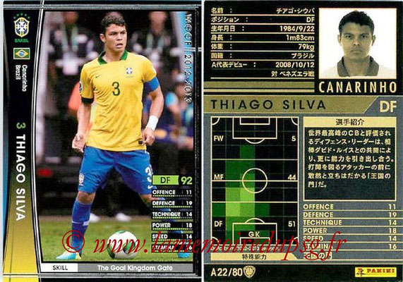 2012-13 - WCCF - N° A22 - Thiago SILVA (Brésil)