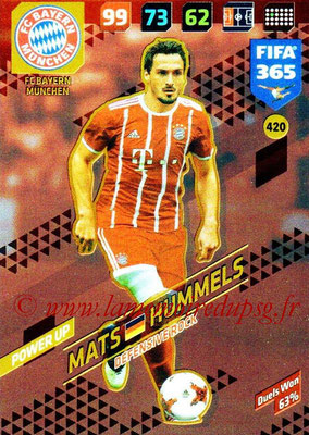 2017-18 - Panini FIFA 365 Cards - N° 420 - Mats HUMMELS (FC Bayern Munich) (Defensive Rock)