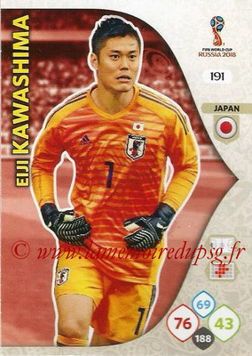 2018 - Panini FIFA World Cup Russia Adrenalyn XL - N° 191 - Eiji KAWASHIMA (Japon)