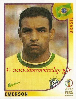 2002 - Panini FIFA World Cup Stickers - N° 180 - EMERSON (Brésil)