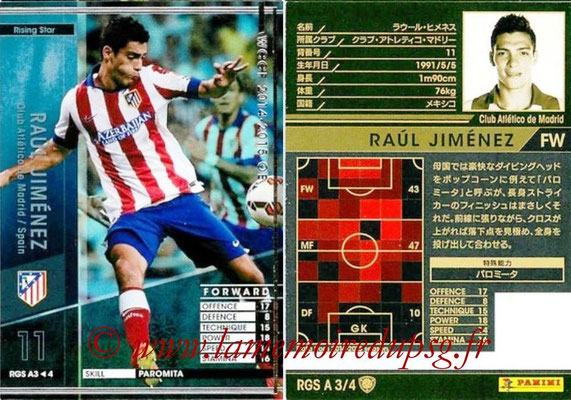 2014-15 - WCCF - N° RGS A3 - Raul JIMENEZ (Club Atletico Madrid) (Rising Star)