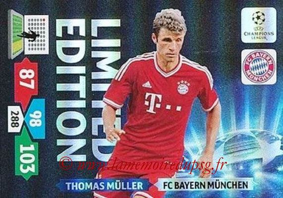 2013-14 - Adrenalyn XL champions League N° LE20 - Thomas MÜLLER (FC Bayern Munich) (Limited Edition)