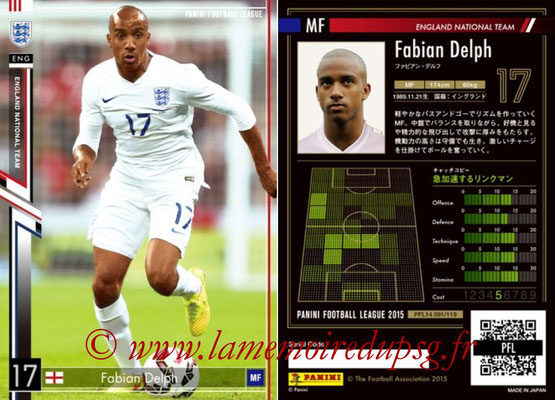 Panini Football League 2015 - PFL14 - N° 091 - Fabian DELPH (Angleterre)