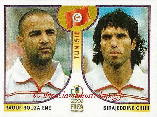 2002 - Panini FIFA World Cup Stickers - N° 572 - Raouf BOUZAIENE + Sirajeddine CHIHI (Tunisie)