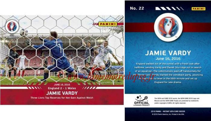 Panini Instant Euro 2016 - N° 022 - Jamie VARDY