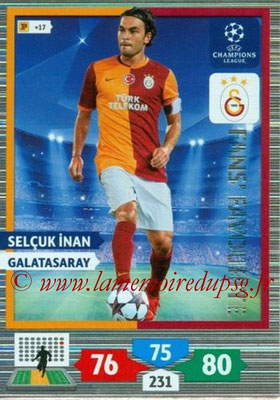 2013-14 - Adrenalyn XL champions League N° 302 - Selcuk INAN (Galatasaray) (Fans' Favourite)