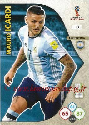 2018 - Panini FIFA World Cup Russia Adrenalyn XL - N° 018 - Mauro ICARDI (Argentine)