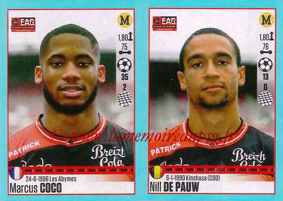 2016-17 - Panini Ligue 1 Stickers - N° 242 + 243 - Marcus COCO + Nill DE PAUX (Guingamp)