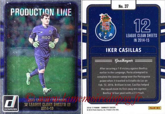 2016 - Panini Donruss Cards - N° PL37 - Iker CASILLAS (FC Porto) (Production Line)