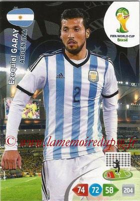 2014 - Panini FIFA World Cup Brazil Adrenalyn XL - N° 010 - Ezequiel GARAY (Argentine)