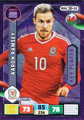 2018 - Panini Road to FIFA World Cup Russia Adrenalyn XL - N° WAL05 - Aaron RAMSEY (Pays de Galles) (Key Player)