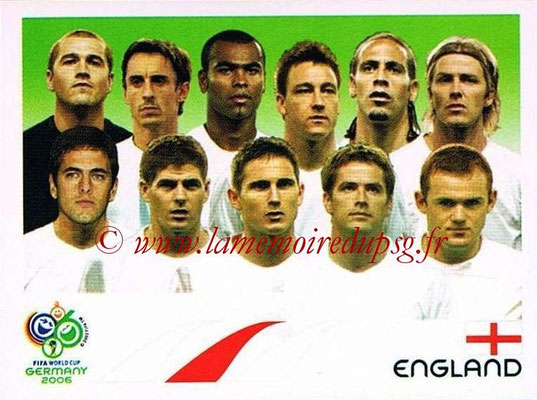 2006 - Panini FIFA World Cup Germany Stickers - N° 093 - Équipe Angleterre