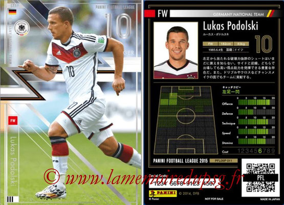 Panini Football League 2015 - PFL09P - N° 011 - Lukas PODOLSKI (Allemagne) (Star)