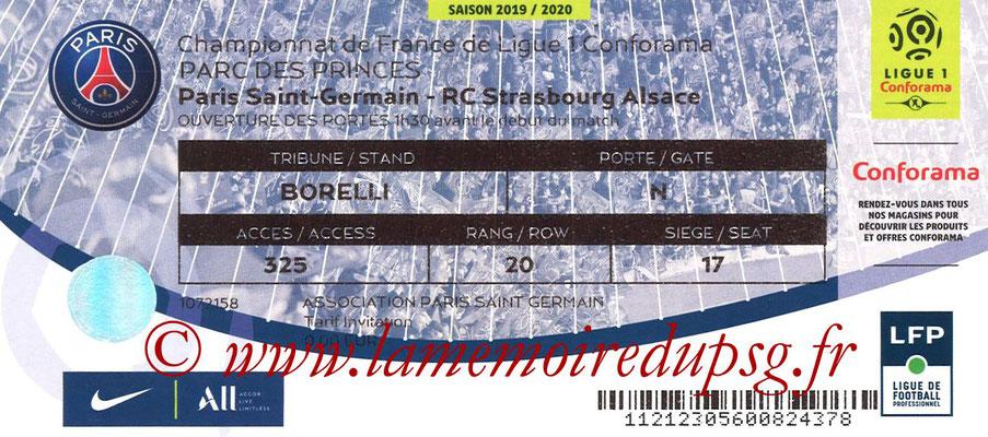 Tickets  PSG-Strasbourg  2019-20