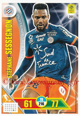 2017-18 - Panini Adrenalyn XL Ligue 1 - N° 205 - Stéphane SESSEGNON (Montpellier)